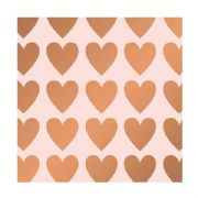 Metallic Hearts Roll Wrap - 2m